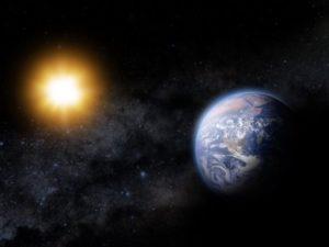 الشروق والغروب في الفضاء